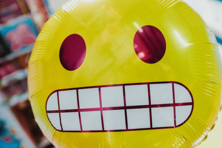A smiley face balloon