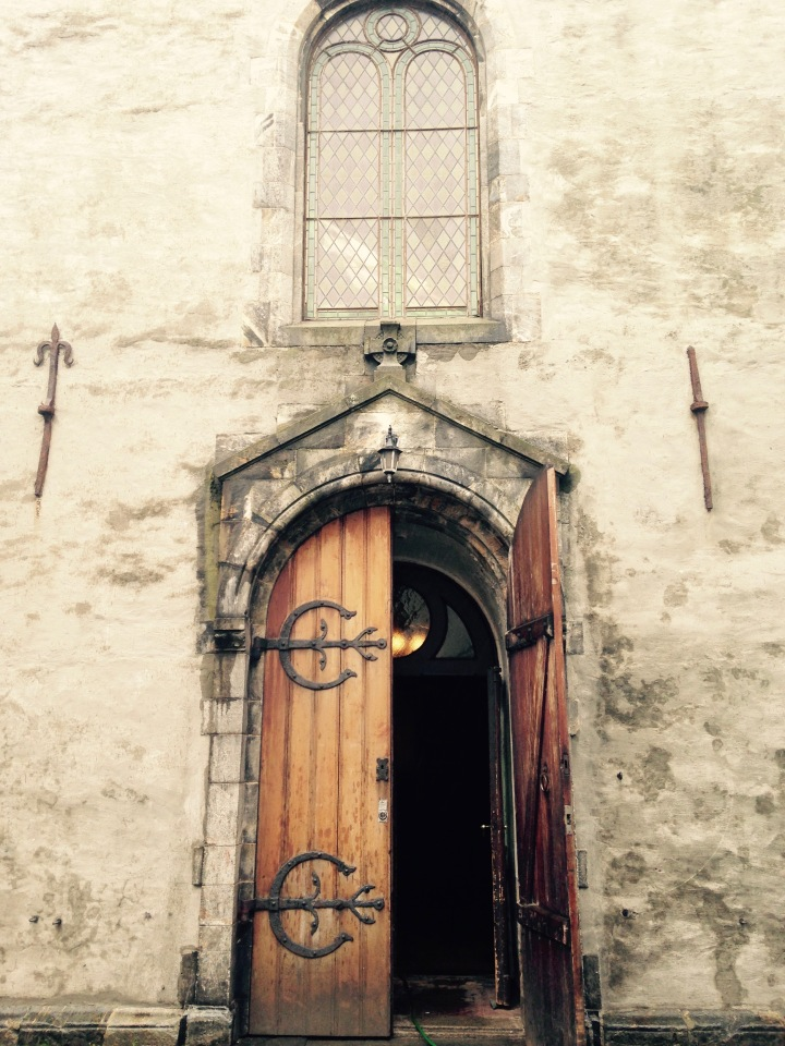 Open doorway of an old church