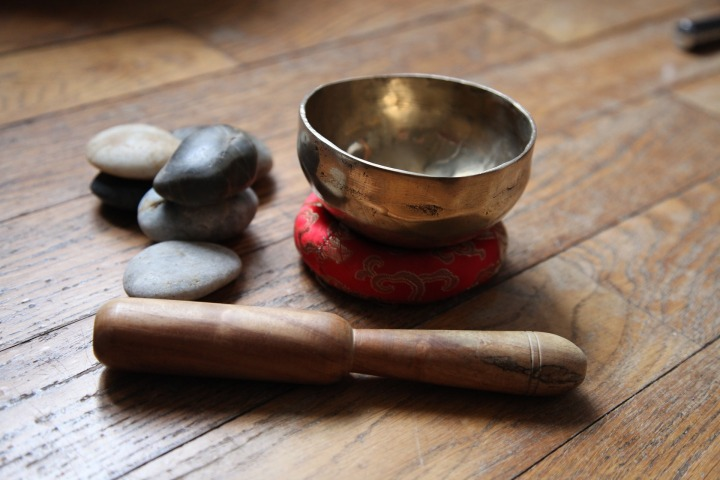 A singing bowl used for meditation